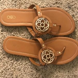 LEATHER&GOLD CATO SANDALS